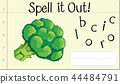 Spell English word broccoli 44484791