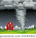 Cyclone hit the rural area 44484802