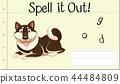 Spell English word dog 44484809
