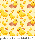Chick hatching egg seamless 44484827