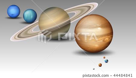 Set of solar system planet 44484841