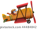 A man ride classic aircraft 44484842