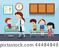 A doctor helping kids 44484849