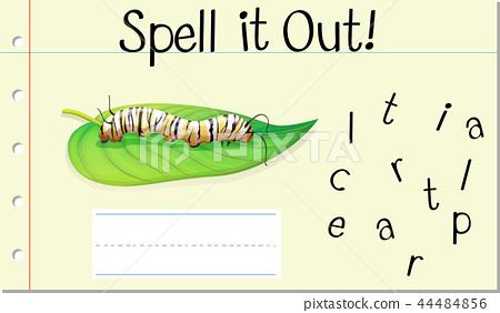 Spell English word caterpillar 44484856