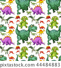 Various types of dinosaur seamless pattern 44484883