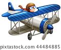 Pilot riding the plane 44484885