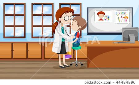 A boy at hospital 44484896
