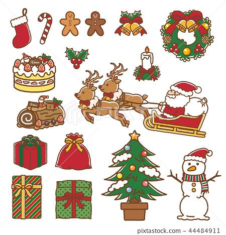 크리스마스 소재 44484911
