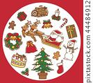 聖誕節設置紅色 44484912