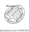 vareniki on a large plate 44485309