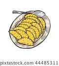 vareniki on a large plate 44485311