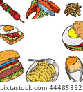 Gourmet Burgers and ingredients for burgers 44485352