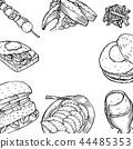 food, burger, hamburger 44485353