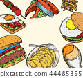 Gourmet Burgers and ingredients for burgers 44485355