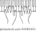 piano vector hands 44485441