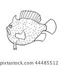 sketch, fish, funny 44485512