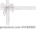 White cross ribbon with bow  44486885