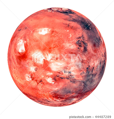 The red planet Mars, part of the solar system 44487289