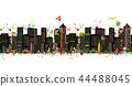 Colorful metropolis, seamless pattern for your design 44488045