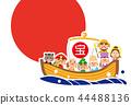 日野丸七幸運神寶船模板的一年 44488136