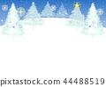 전나무 크리스마스 카드 (파스텔 블루) _2 44488519