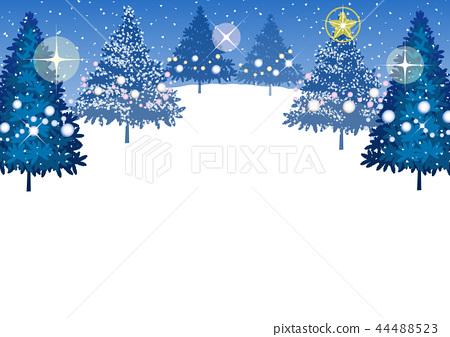 전나무 크리스마스 카드 (파랑) _1 44488523