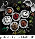 pots and botany background 44488681
