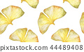Seamless pattern with Autumn ginkgo leaf 44489408