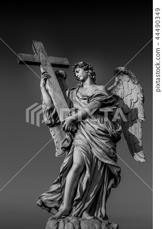 Catholic angel with cross 44490349