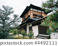Japanese traditional building consist of woods 44492111