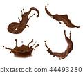 chocolate splash liquid 44493280
