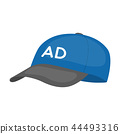 Baseball cap advertising icon in cartoon style isolated on white background. Advertising symbol 44493316