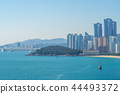 gwangan bridge and skyline of haeundae in busan 44493372