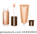 3D mockup with cosmetics for lips care 44494840