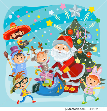 Kids Christmas carnival party illustration 44494866