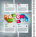 infographic timeline template with icons 44494868