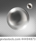 realistic silver glass sphere transparent 44494873