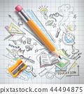 education, science concept, pencil, sketch 44494875