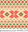 Christmas knitted pattern. Winter geometric. 44495179