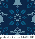 Christmas knitted pattern. Winter geometric. 44495181