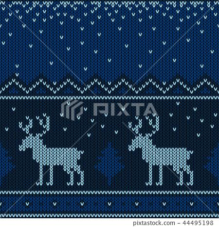 Christmas knitted pattern. Winter geometric. 44495198