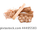 Burdock roots isolated on white background 44495583