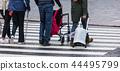 pedestrian crossing in modern city 44495799