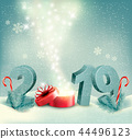 Merry Christmas Background with 2019  44496123