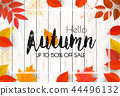 Autumn Background With Colorful Leaves For Sale. 44496132
