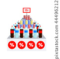 Supermarket Sale on Water Vector Illustration 44496212