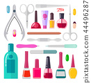 Nail Art Collection of Objects Vector Illustration 44496287