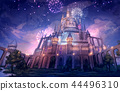 Castle _ Night scenery Background Fantasy 44496310