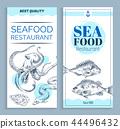 Vector Best Quality Seafood Restaurant Banner Set 44496432