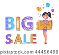 Big Sale Poster Price Off Vector Illustration 44496499